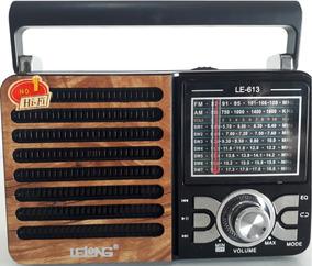 Kit 2 Rádio Lelong 3w Bivolt 110v/220v Pega Pilha Fm/am/sw1