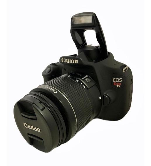 Câmera Canon T5+ Lente 1855 Semi Nova Impecável + Sd 64 Gb