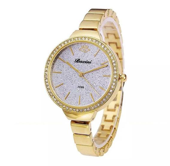 Reloj Pulsera Moda Diamante Geneva Casual Mayoreo