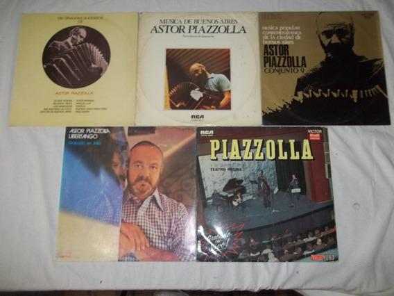 Lote 5 Lps Disco De Vinil - Astor Piazzolla