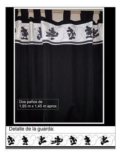 Exclusivas Cortinas Mickey Blanco Y Negro !!!!!!!!!!!!!!