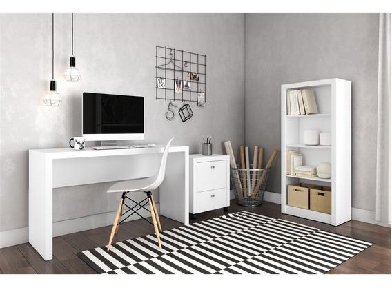 Conjunto Home Office Cb02 Com Escrivaninha, Armário Alto E G