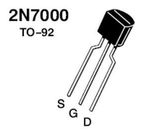 10 Pçtransistor 2n7000 Mosfet N 60v 0,2a To-92 Philips