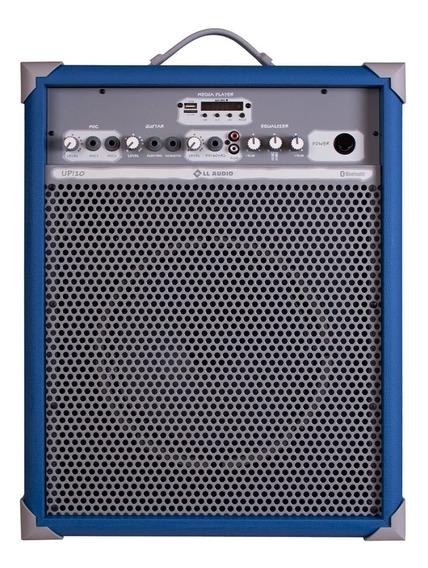Caixa De Som Amplificada 65w 10 Pol Sky Blue Up!10 Ll Áudio