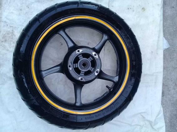 Roda Liga Leve Traseira De Xj6 Com Pneu Pirelli Usado 2013