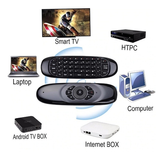 Controle Led Air Mouse Giroscópio Android Ps4 Pc Tv Box