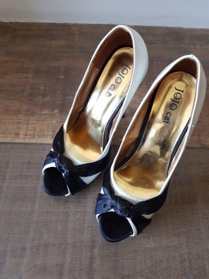Zapatos Stilettos Boca De Pez Taco Alto