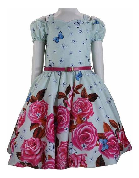 Vestido Festa Infantil Formatura Juvenil Princesa Borboleta