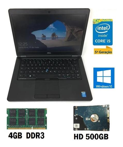 Notebook Dell Latitude E5450 Intel I5 4gb 500gb Windows 10