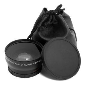 Lente Grande Angular Wide 0.45x 58mm + Macro Canon 18-55mm