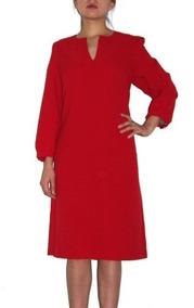 Vestido Rojo Corto Mangas Largas__ Karl Lagerfeld