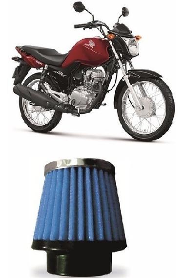 Filtro De Ar Esportivo Azul Moto Cg Titan 150cc 2005 Rci03az