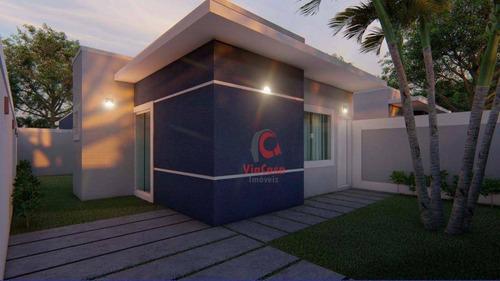 Casa Com 3 Quartos Sendo 1 Suíte À Venda, 75 M² Por R$ 285.000 - Enseada Das Gaivotas - Rio Das Ostras/rj - Ca2369