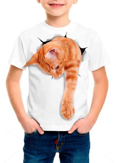 Camiseta Infantil Gato Ginger - M001