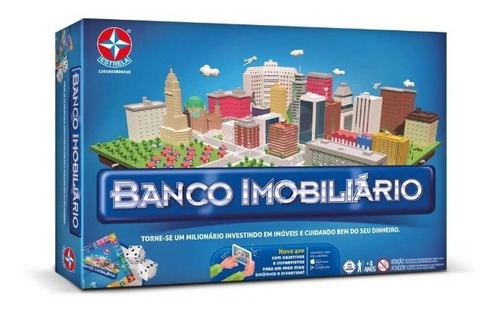 Imagem 1 de 3 de Jogo De Tabuleiro Banco Imobiliario Grande - Estrela