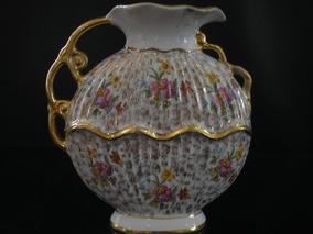 Raridade Antiga Ânfora Porcelana Mauá Anos 50 Trab Ouro