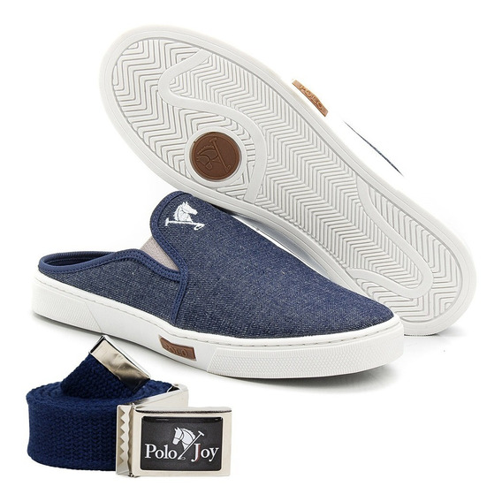 Babuche Slip On Mule Polo Joy Masculino Casual C/ Cinto