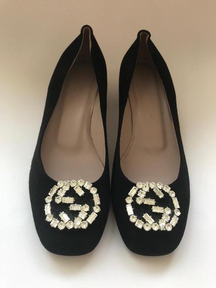 Zapatos Flats Gucci Negros