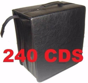 Porta Cd Maleta 240 Cd / Dvd / Blu-ray Couro Gigante - Usada