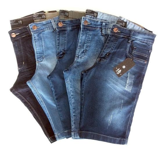 Kit Bermuda Jeans Masculino Lote 5 Unidades Preço De Atacado