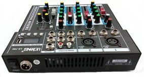 Mesa De Som 4 Canais Mixer Bluetooth Mp3 Player Digital Usb