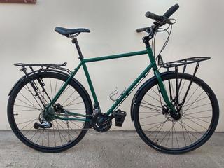 Bicicleta Híbrida 700x35 Talle M, 27 Vel Y Freno Hidráulico