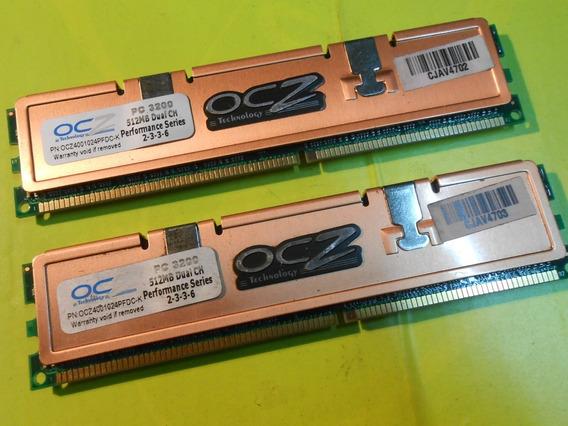 Memoria Ocz Ddr 1gb (2 X 512mb) 400 (pc 3200) Dual Channel