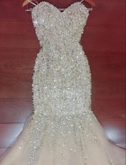 Vestido Longo Com Pedraria - Formatura - Marca Forever