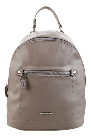 Mochila David Jones Taupe, Gris, Beige Y Negro