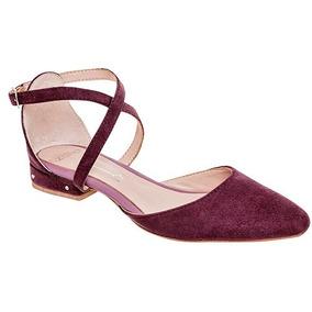 Zapatos Flats Dama Violeta Capa De Ozono Sintetico Udt 90008