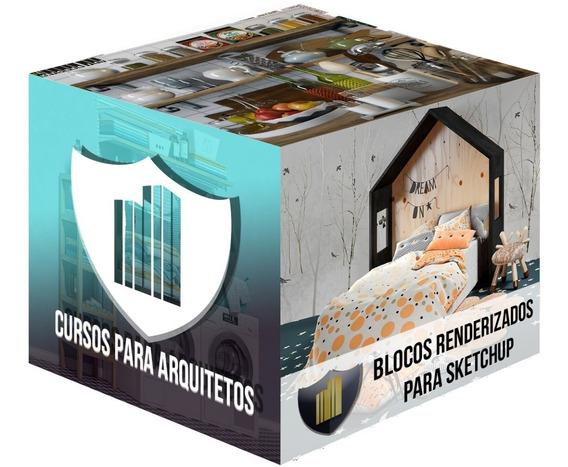 Blocos 3d Para Sketchup (800gb) + Bônus Completo