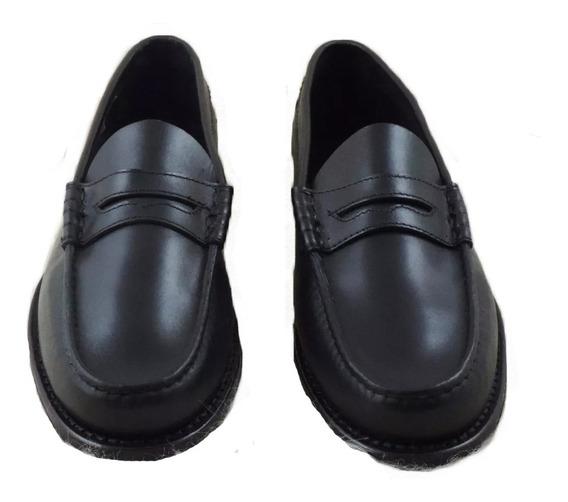 Zapato Mocasín Suela Clásico Negra Vincha
