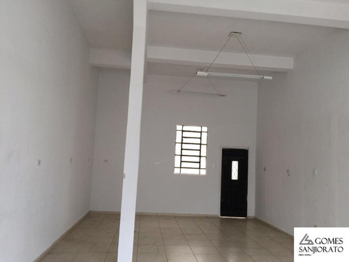 Salão Comercial Para A Venda No Bairro Vila Assunção Em Santo André - Sp . - Sl00021 - 68709653