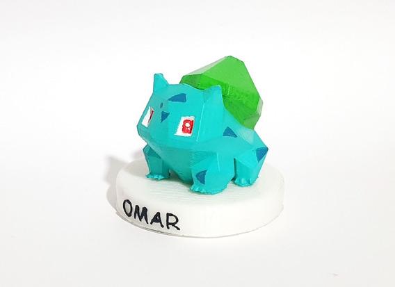 Pokemon Figura 3d Personalizable Con Tu Nombre Bulbasaur