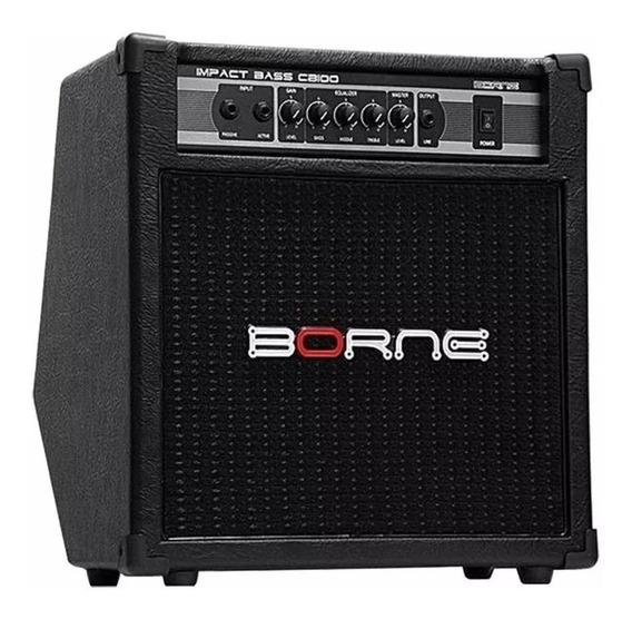 Amplificador Borne Impact Bass Cb100 70w Para Contra Baixo