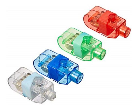 Paquete Con 4 Led Finger Laser Anillo Luz Neonmania