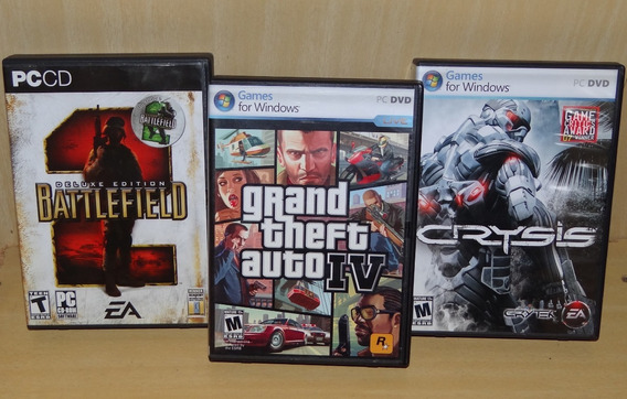 Battlefield 2 - Deluxe Edition + Crysis 1 + Gta 4 Iv - Pc