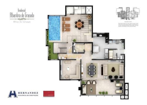 Imagem 1 de 12 de Apartamentos - .cobertura - Residencial Alhambra De Granada              - 908