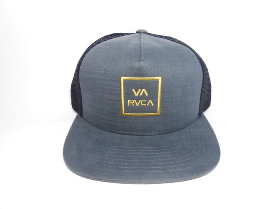 Boné Rvca Trucker Va All The Way Iii Azul Claro