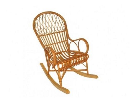 Cadeira Balanço Feita De Vime