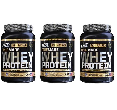 Proteina Whey Protein True Made X 1kg Ena X 3 Unidades