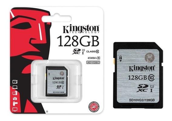 Cartão Sd Kingston 128gb Secure Digital Sdhc Classe 10 Uhs-i