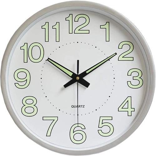 Imagen 1 de 8 de Reloj De Pared, 12 En 30 Cm Moderno Luminoso Digital Reloj