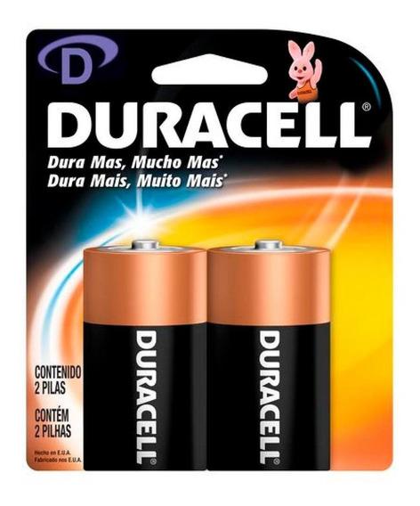 Pilha Duracell Alcalina D Com 2 Unidades - Mn1300b2