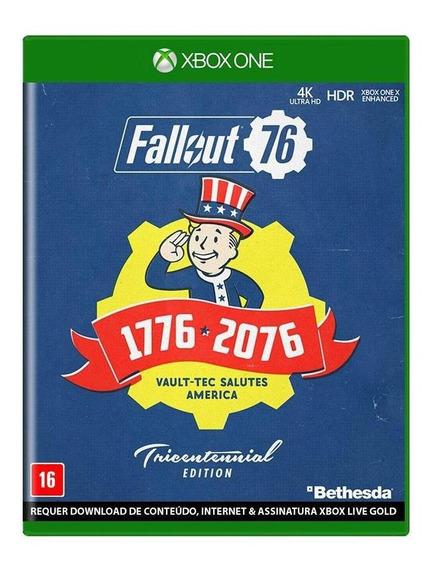 Fallout 76 Edição Tricentenária Xbox One Mídia Física Novo
