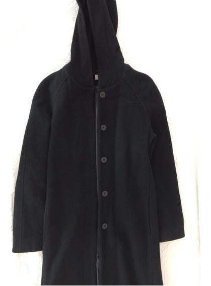 Abrigo Largo Para Dama Color Negro Talla S Marca Nafnaf