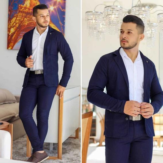 Blazer Masculino Esporte Fino Slim Fit Com Elastano Premium