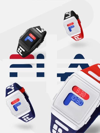 Reloj Fila Deportivo Sport Digital Luz Unisex Varios Colores