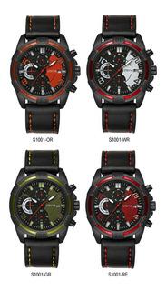 Reloj Stryve_cronómetro_deportivo_cuero_calidad_categoria