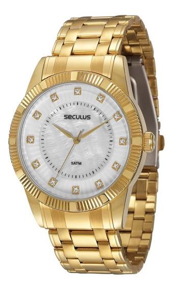 Relógio Feminino Analógico Seculus 28238lpspds3 Dourado